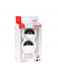 Czarno-biała grzechotka Tullo kulki