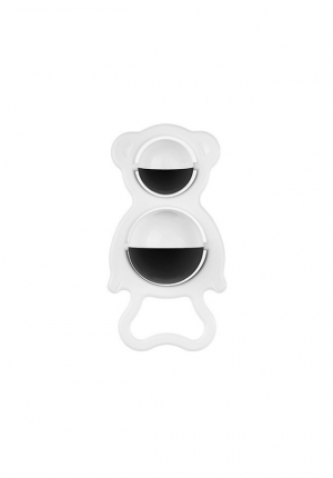 Black and white baby rattle Tullo Bear