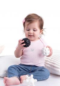 Black and white sensory balls Tullo 4 pcs