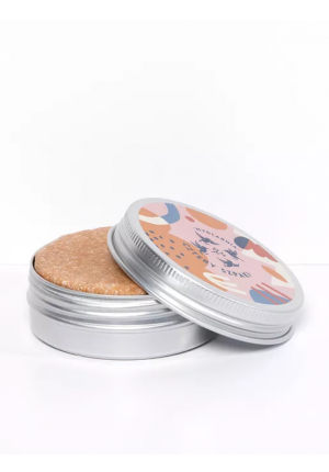 Round tin for shampoo