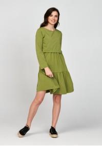 Sukienka 1117707 falbany zielona