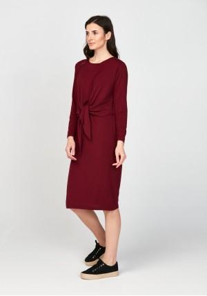 Sukienka 1117702 bordowa