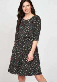Sukienka 1117703 zielona w koła