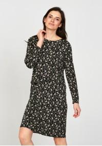 Sukienka 1117709 czarna w kwiatki