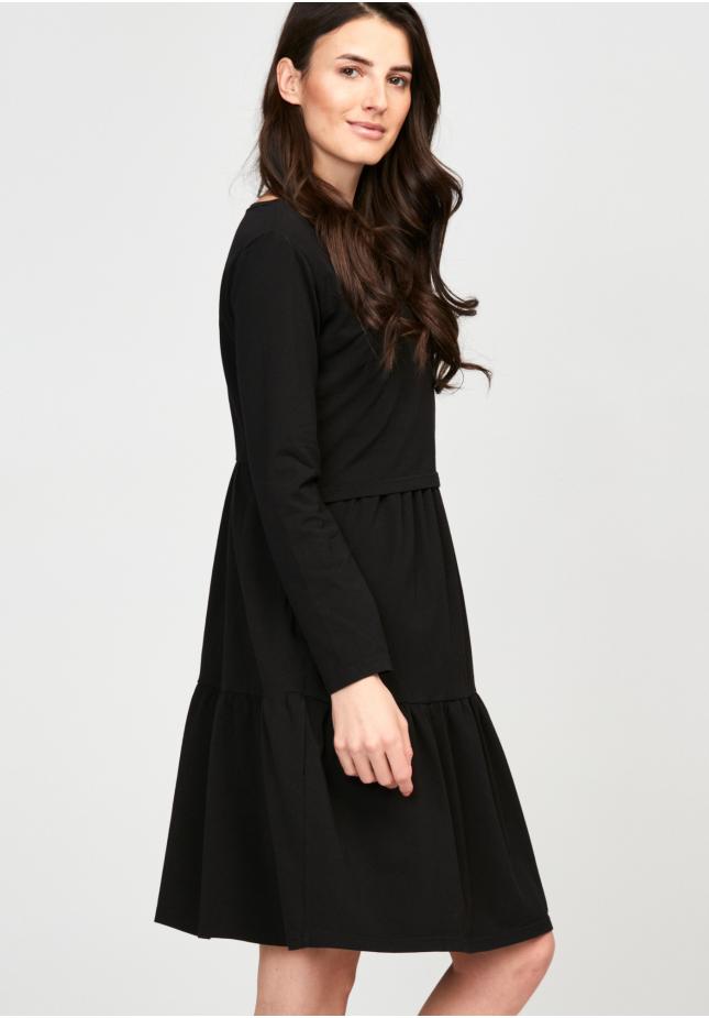 Sukienka 1117706 falbany czarna