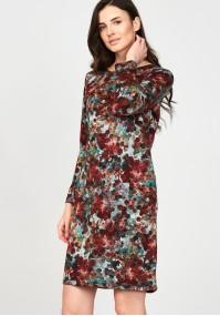 Sukienka 1117722 turkusowo-brązowa