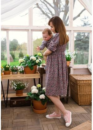 Sukienka 1117416 (kwiaty jeans)