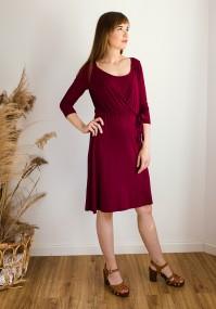 Sukienka 1117412 (bordowa)
