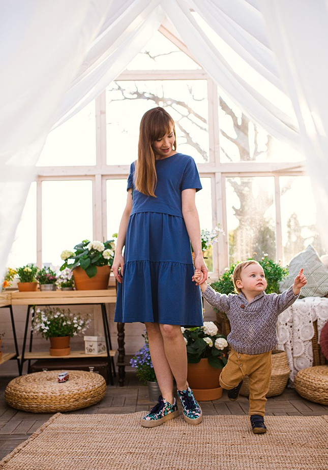 Sukienka 1117403 (niebieska)
