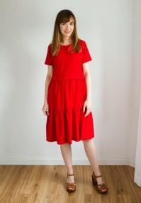 Sukienka 1117404 (czerwona)
